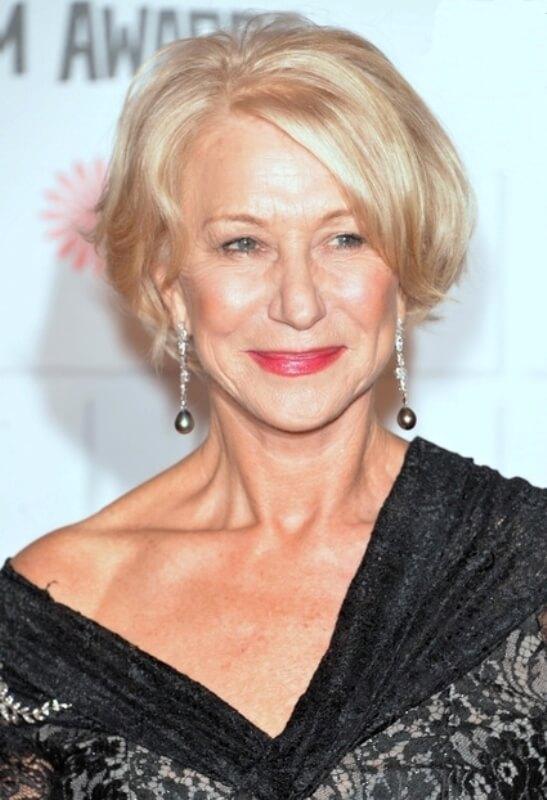 Helen Mirren at an awards show