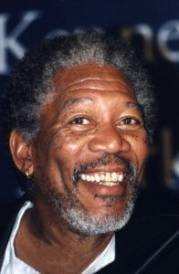 Morgan Freeman Smiling.