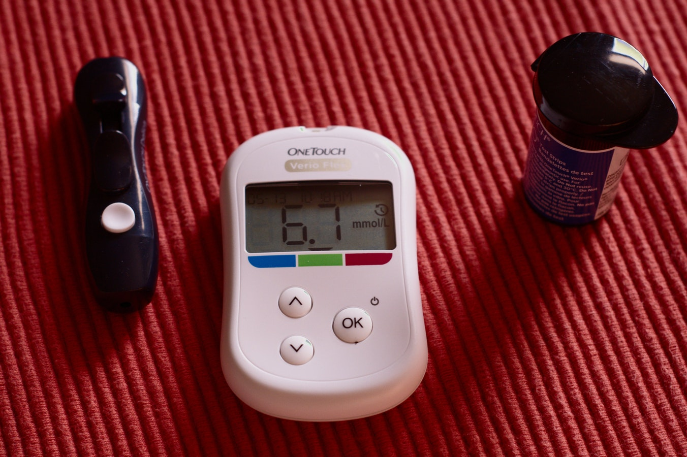 A diabetes monitor. Diabetes is one of the 10 common senior health issues.