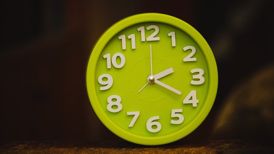 A green clock. At assisted living facilities, there is around the clock care when it is needed