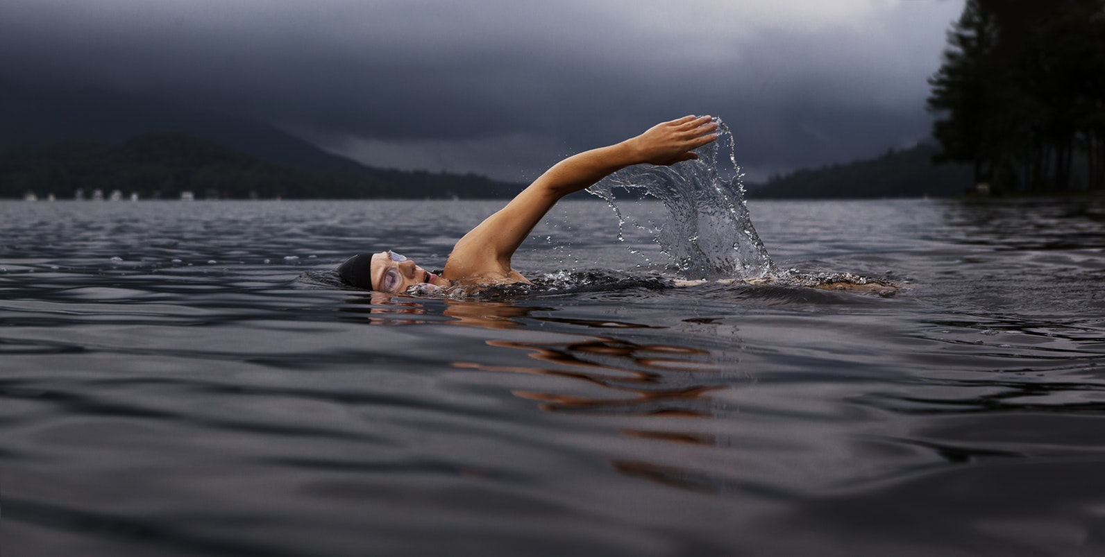 A man swimming. Swimming is a great form of exercise for those with alzheimers