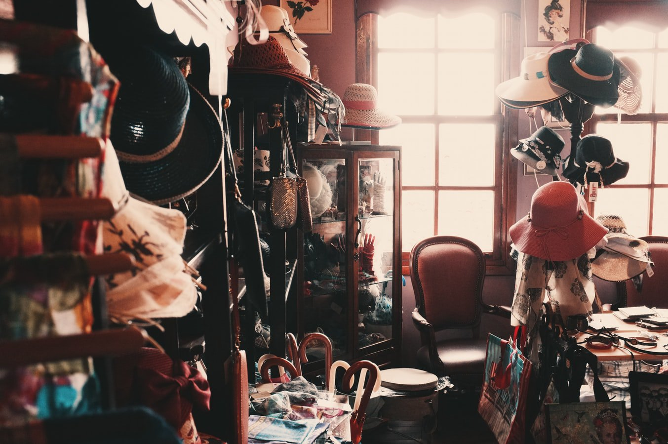 A messy closet. It is important to know how to declutter a home before moving to an assisted living facility