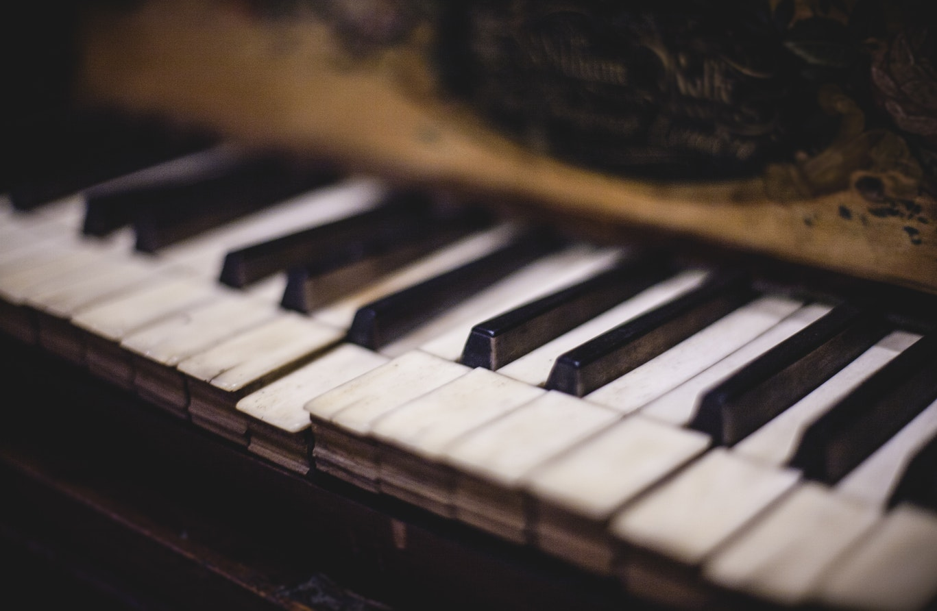 A old piano. Music helps create a safe enviornment for seniors with alzheimers