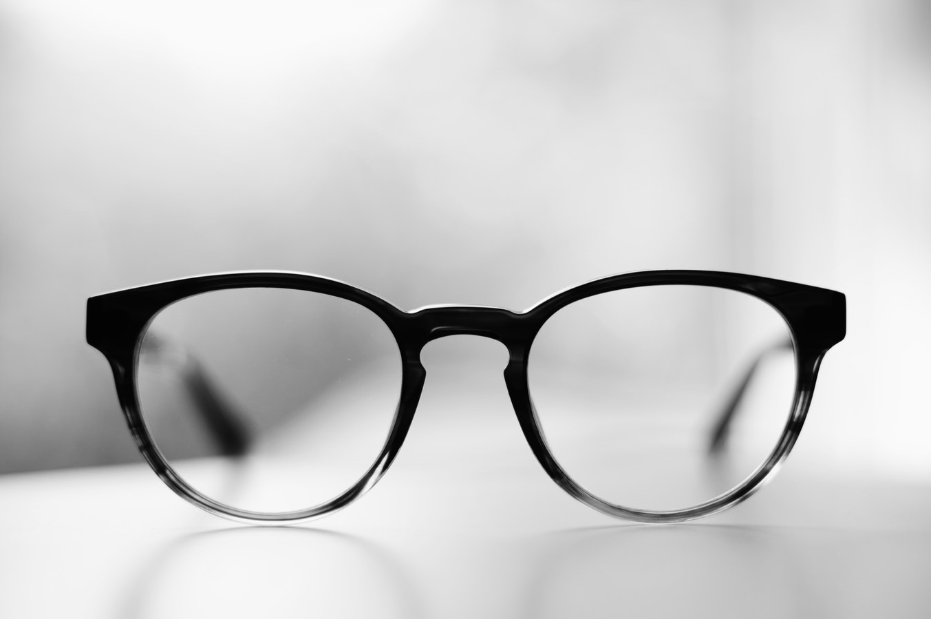A pair of glasses. Cataracts are one of the 10 common senior health issues