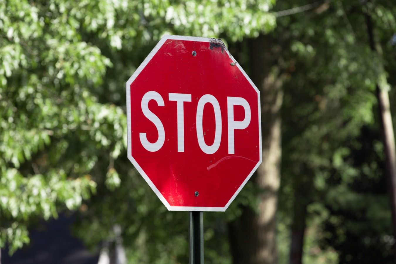 A stop sign. To help stretch their dollar, many seniors need to avoid scams.
