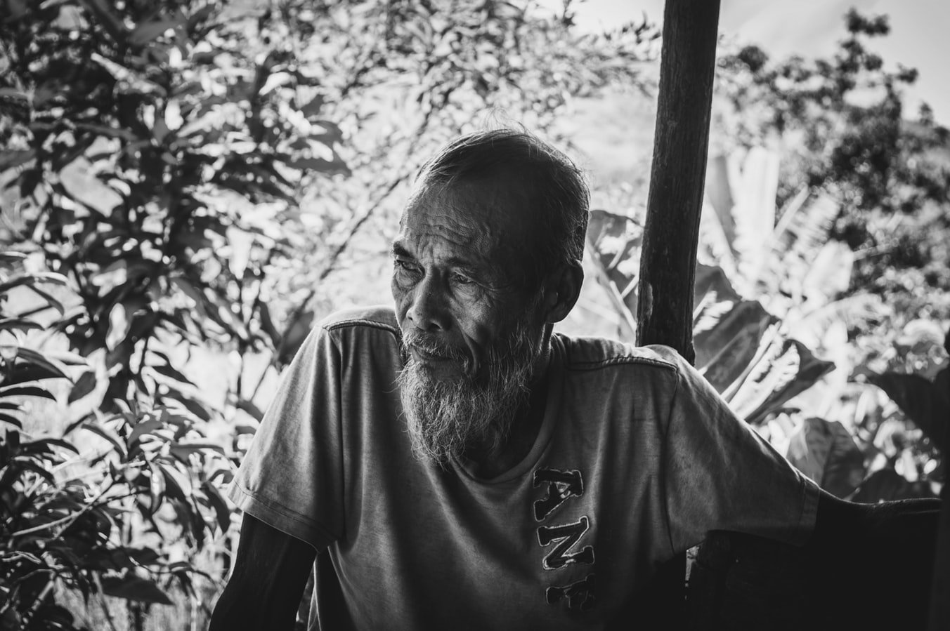 An older man thinking about what is assisted living.