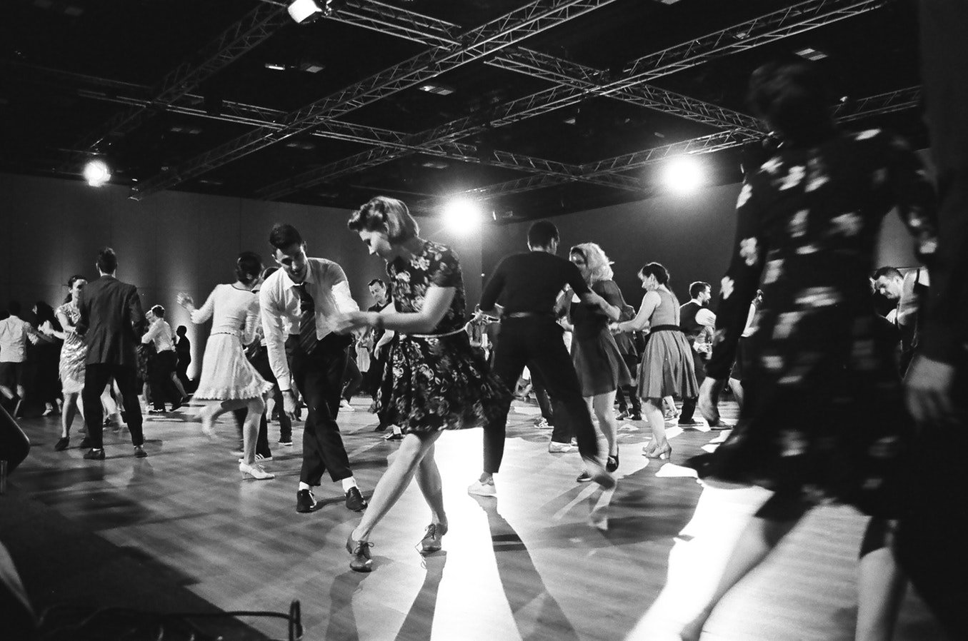 Couples dancing on the dance floor. Dancing is a great way to stay healthy while aging.