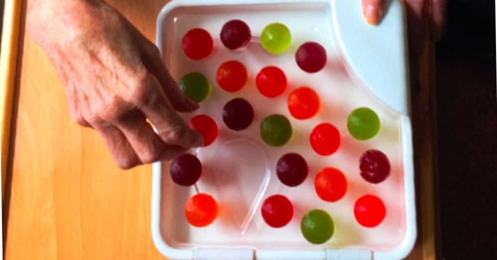 "The ""Jelly Drops"" invented to help Alzheimer's patients stay hydrated."
