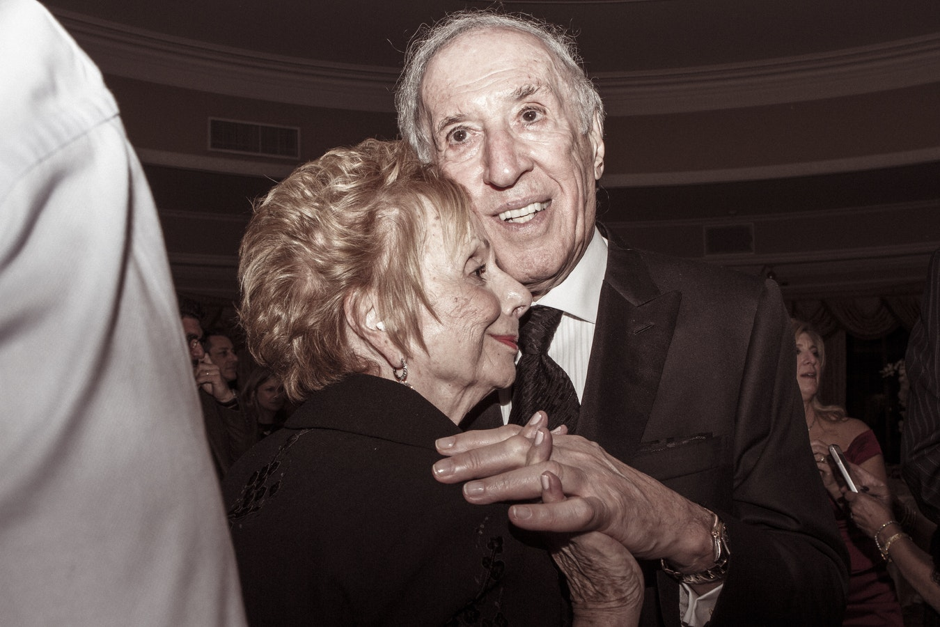Two older individuals enjoying a nice dance together. Dancing is a nice form of exercise that can help with exercise