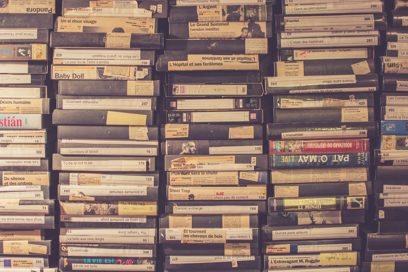 VHS tapes. Individuals with Alzheimer's can watch videos as a pass time