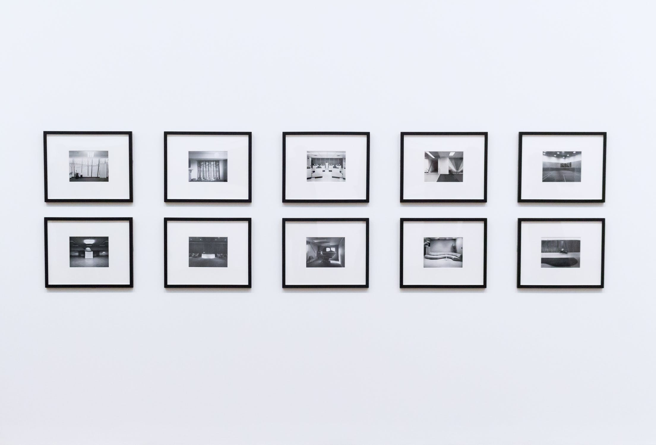 Photographs hanging on the wall. Photographs can help seniors make their new place feel like home.