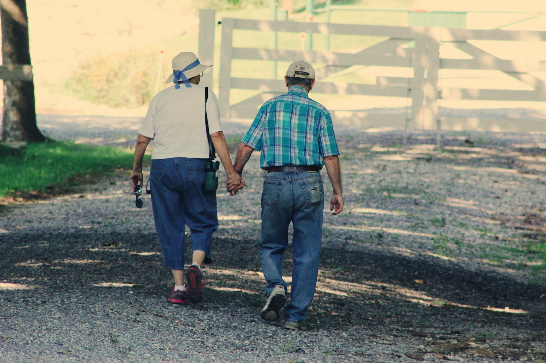 An older couple out on a walk. Frequent exercise can help reduce the risk of cancer.