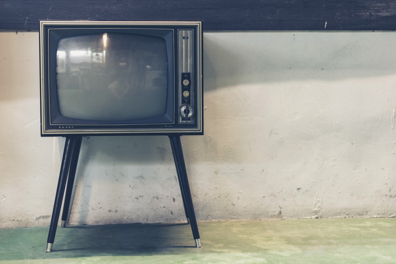 An old school television-There are many movies available today that honor our veterans.