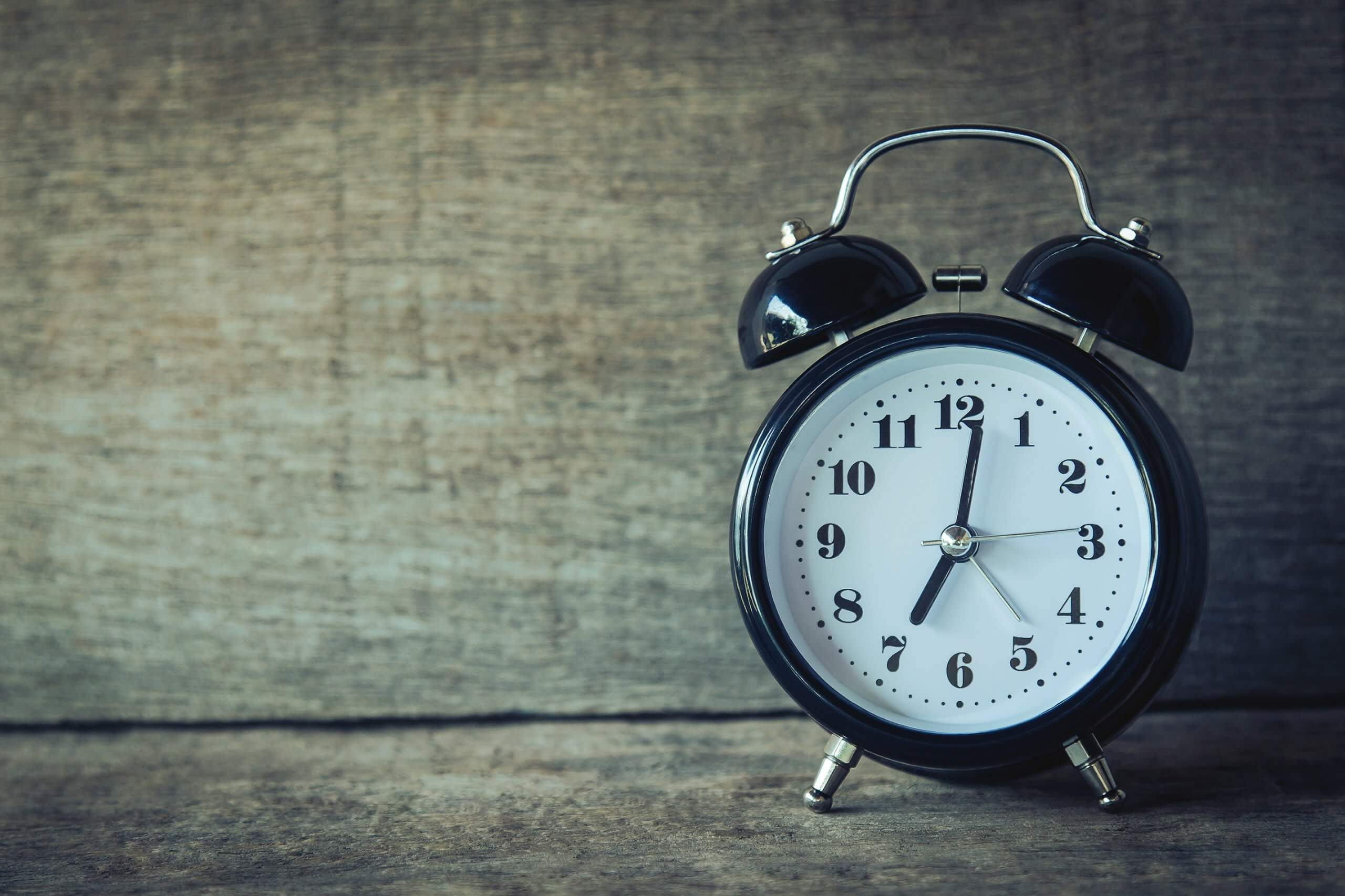 An alarm clock. One way to get better sleep is to set a routine before going to bed.