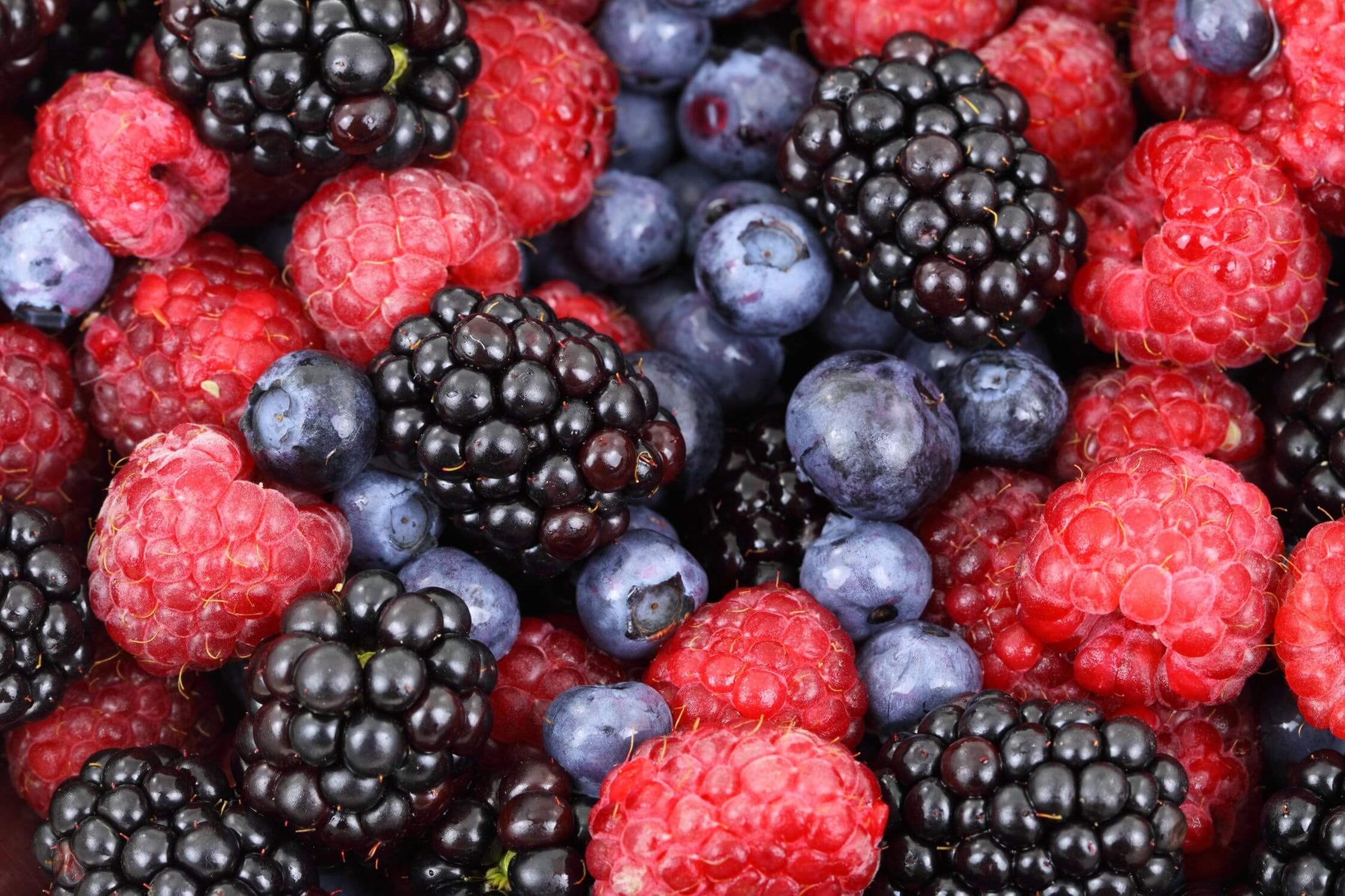 Fresh berries. Berries are heart healthy options anyone can add to their diet.