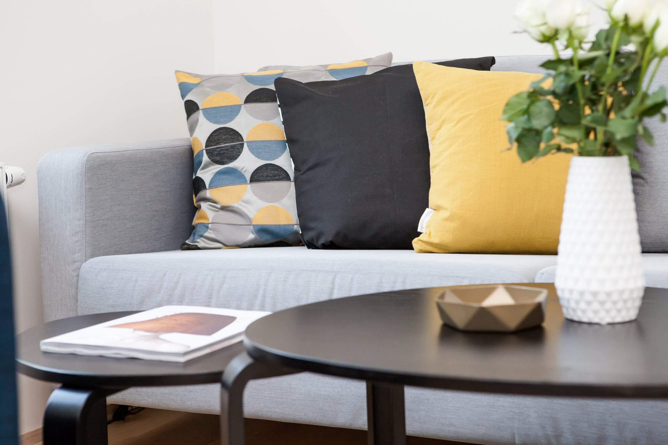 A couch inside a living room. There are many signs you should move your loved one to an assisted living facility.