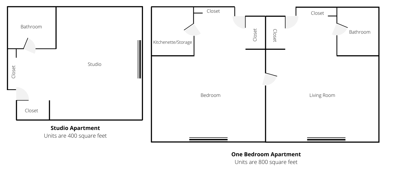 Floor plans at Landmark at Desert Gardens, a senior living community in Hobbs, New Mexico