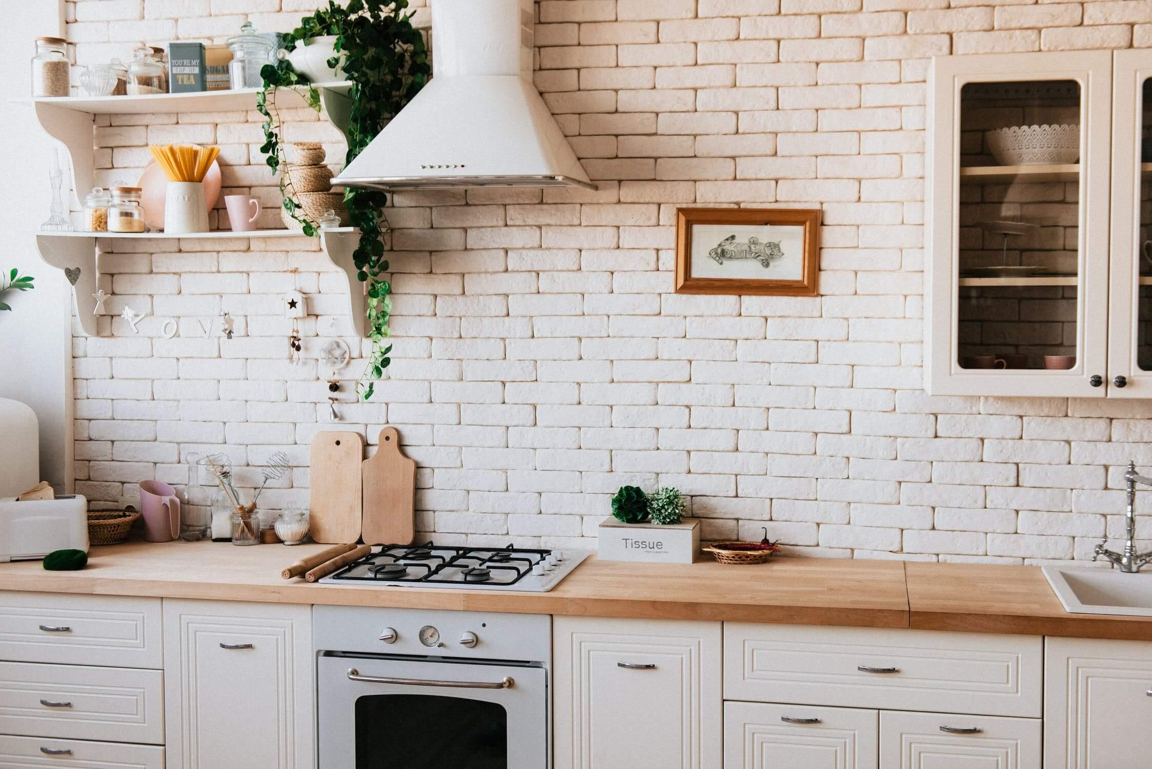 A kitchen in a senior apartment