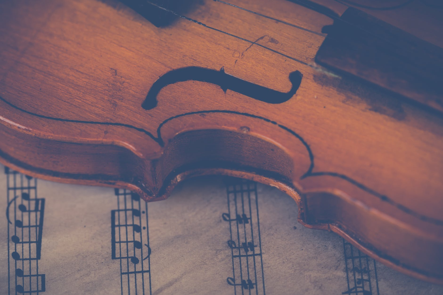 A violin. Individuals can begin expressing creativity by playing music