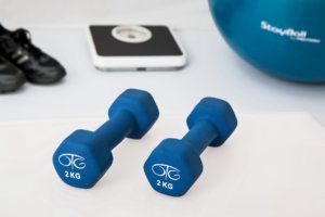 Exercise equipment used during a workout