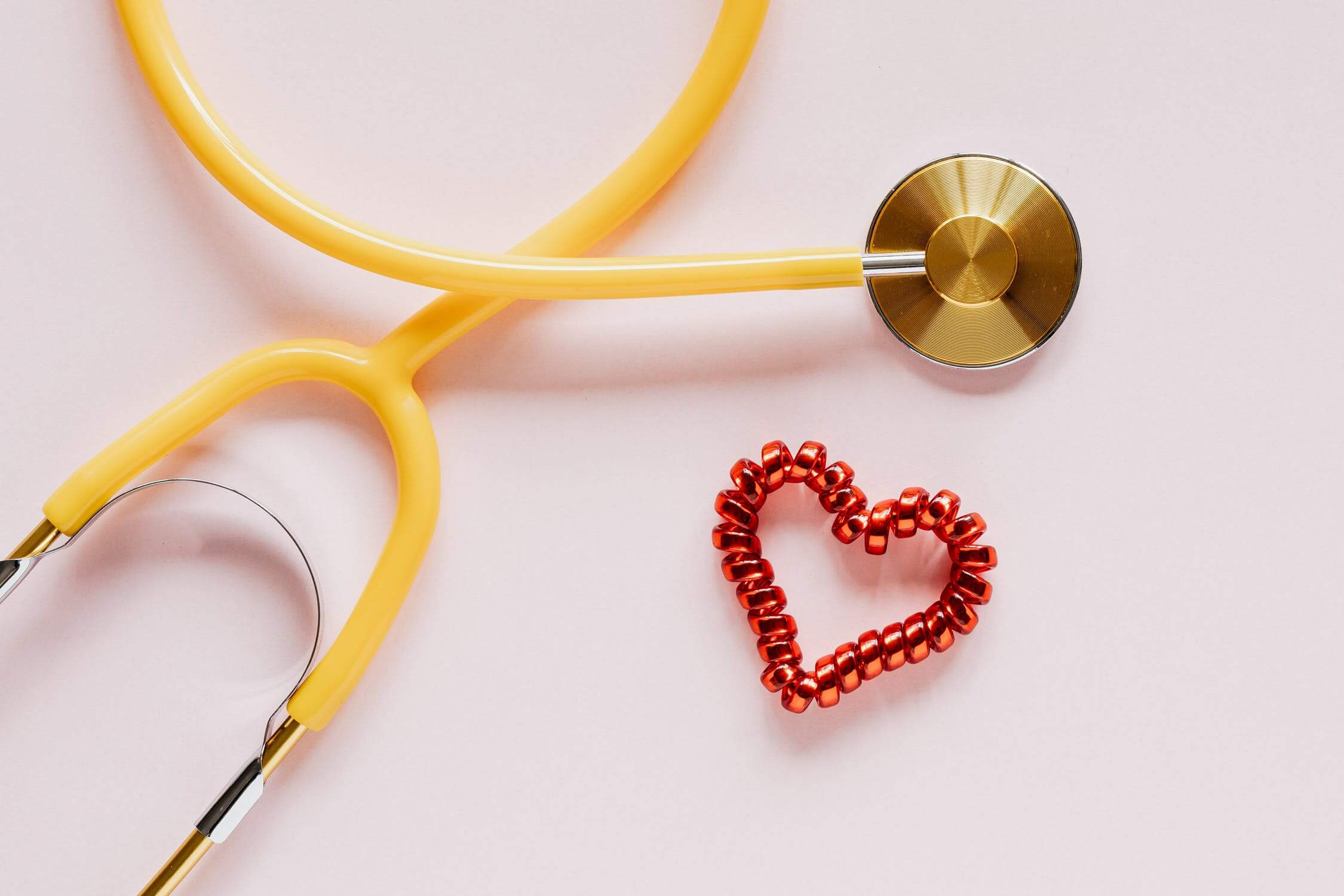 A stethoscope used to listen to patients hearts