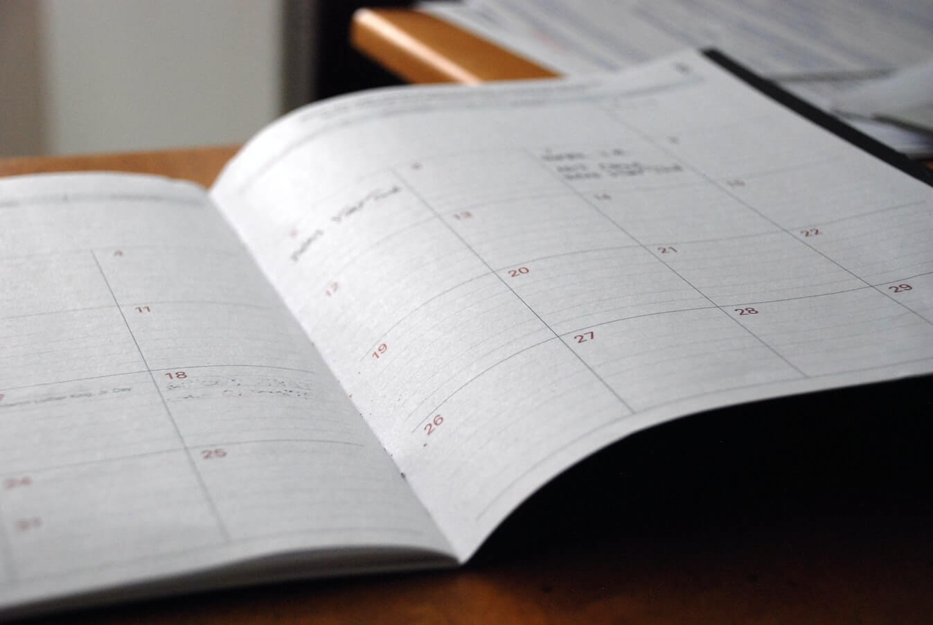 A monthly planner. Many individuals still like to plan their days as they enter retirement