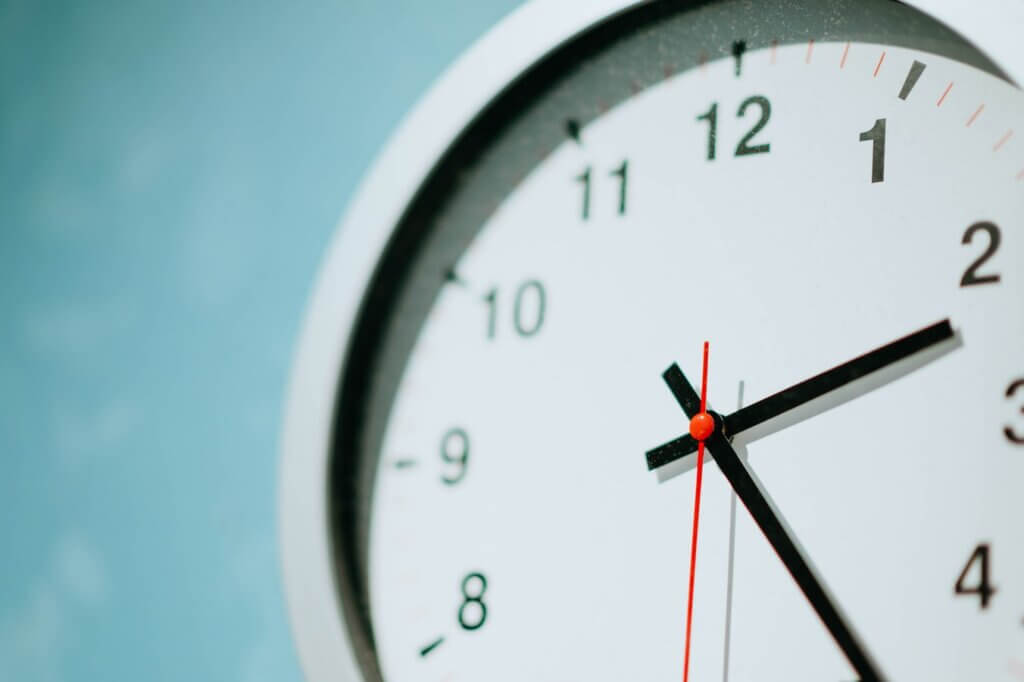 A clock that an individual can use to plan a routine while in self-isolation