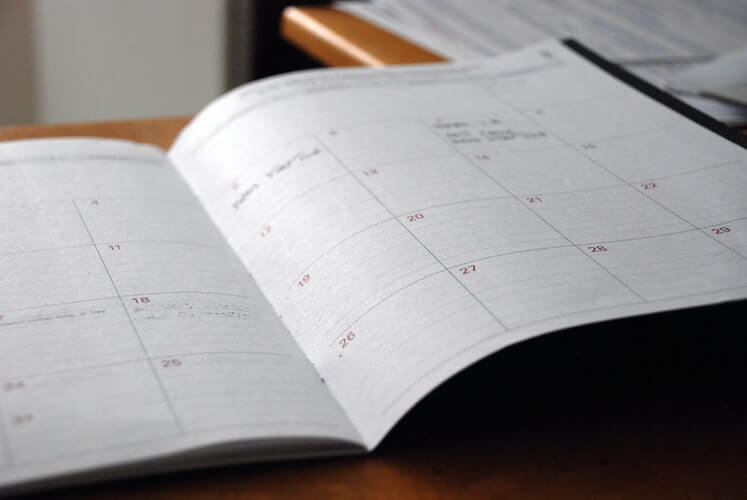 A planner where an individual can record when they need to sign up for medicare